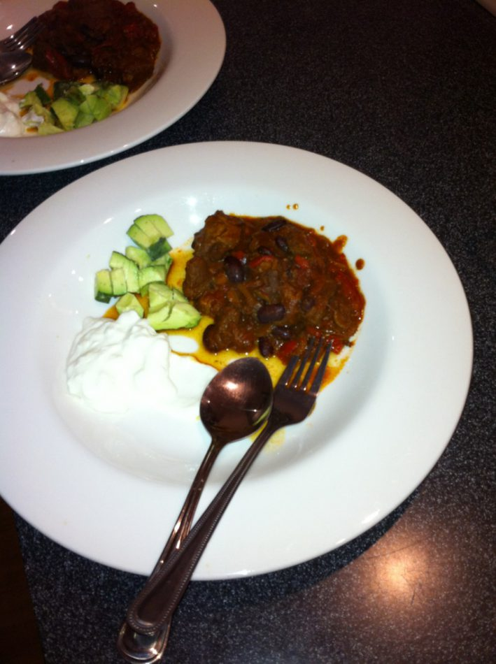 Organic Chilli Beef with Avocado & Sheep's Yoghurt