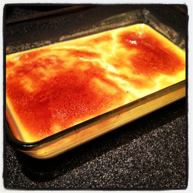 Healthy baked custard