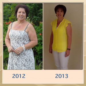 Tania before and after her 15kg weight loss