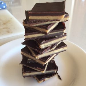 6 ingredient salted chocolate caramel slices